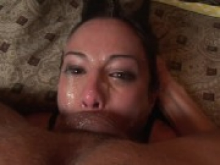 Amber Rayne loves gag and spit – Extreme deephtroat