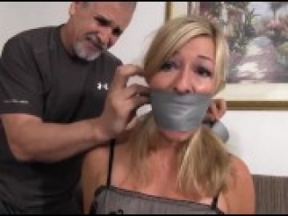 Tied & Tape Gagged in Pantyhose